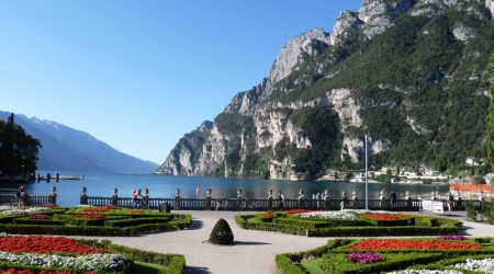 on the edge of Lake Garda